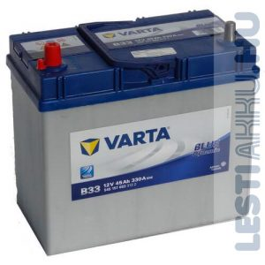 VARTA B33 Blue Dynamic Autó Akkumulátor 12V 45Ah 330A Japán Bal+ (545157033)