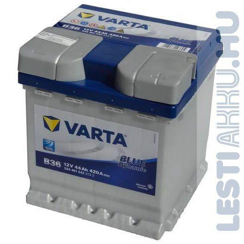 VARTA B36 Blue Dynamic Autó Akkumulátor 12V 44Ah 420A Punto Jobb+ (544401042)