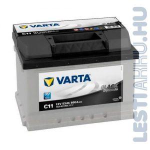VARTA C11 Black Dynamic Autó Akkumulátor 12V 53Ah 500A Jobb+ (553401050)