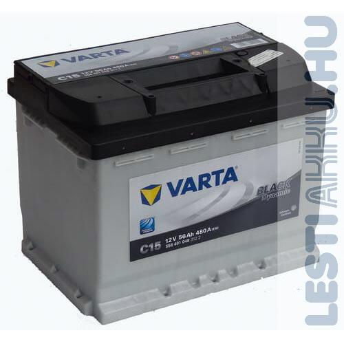 VARTA C15 Black Dynamic Autó Akkumulátor 12V 56Ah 480A Bal+ (556401084)