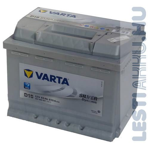 VARTA D15 Silver Dynamic Autó Akkumulátor 12V 63Ah 610A Jobb+ (563400061)