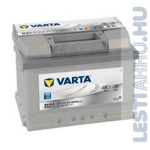 VARTA D21 Silver Dynamic Autó Akkumulátor 12V 61Ah 600A Jobb+ (561400060)