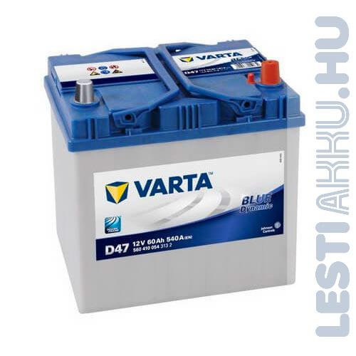 VARTA D47 Blue Dynamic Autó Akkumulátor 12V 60Ah 540A Japán Jobb+ (560410054)