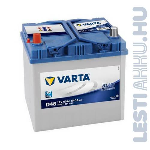 VARTA D48 Blue Dynamic Autó Akkumulátor 12V 60Ah 540A Japán Bal+ (560411054)