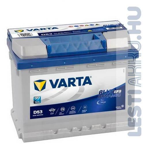 VARTA D53 Blue Dynamic EFB Autó Akkumulátor 12V 60Ah 560A Jobb+ (560500056) Kifutó