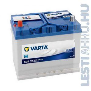 VARTA E24 Blue Dynamic Autó Akkumulátor 12V 70Ah 630A Japán Bal+ (570413063)