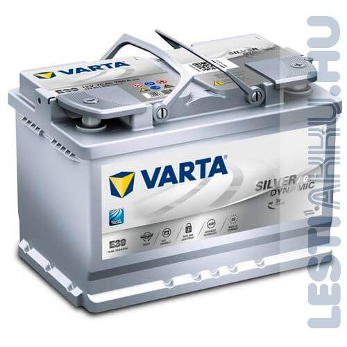 VARTA E39 Silver Dynamic AGM Autó Akkumulátor 12V 70Ah 760A Jobb+ (570901076)