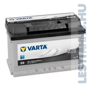VARTA E9 Black Dynamic Autó Akkumulátor 12V 70Ah 640A Alacsony Jobb+ (570144064)