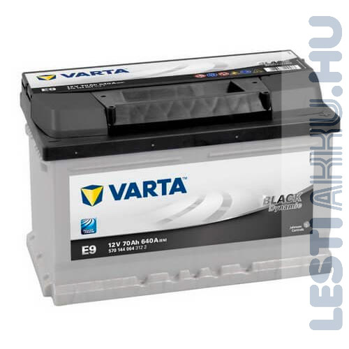 Varta E9 Black Dynamic Auto Akkumulator 12v 70ah 640a Alacsony Jobb 570144064