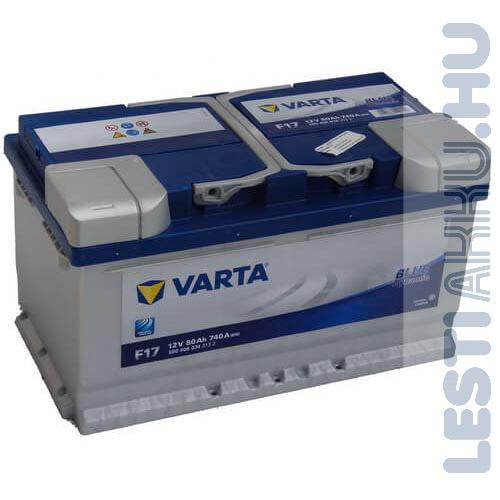 VARTA F17 Blue Dynamic Autó Akkumulátor 12V 80Ah 740A Alacsony Jobb+ (580406074)