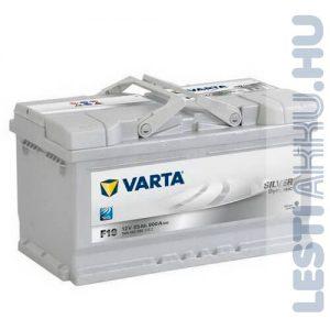 VARTA F19 Silver Dynamic Autó Akkumulátor 12V 85Ah 800A Normál Jobb+ (585400080)