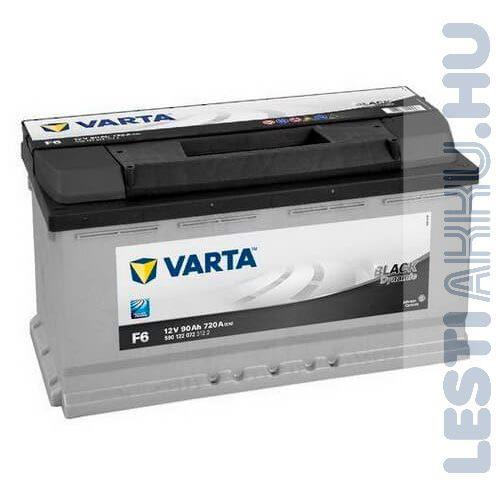 VARTA F6 Black Dynamic Autó Akkumulátor 12V 90Ah 720A Jobb+ (590122072)