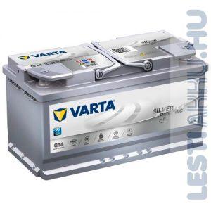 VARTA G14 Silver Dynamic AGM Autó Akkumulátor 12V 95Ah 850A Jobb+ (595901085)