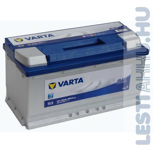 VARTA G3 Blue Dynamic Autó Akkumulátor 12V 95Ah 800A Jobb+ (595402080)