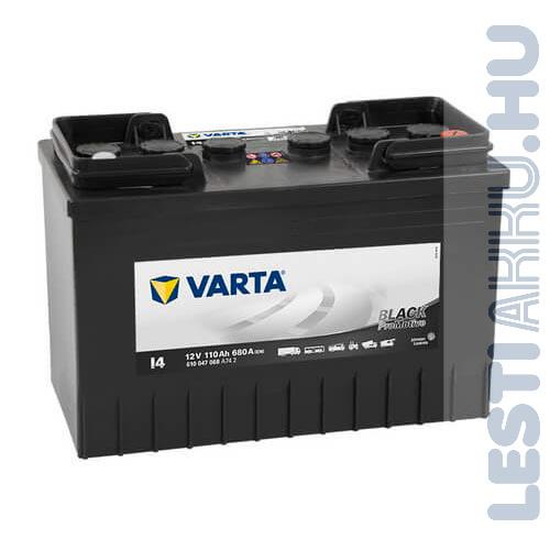VARTA I4 Promotive Black Teherautó Akkumulátor 12V 110Ah 680A IVECO Jobb+ (610047068)