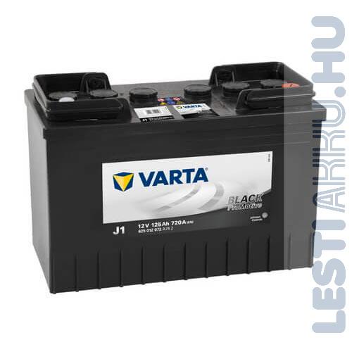 VARTA J1 Promotive Black Teherautó Akkumulátor 12V 125Ah 720A JCB Jobb+ (625012072)