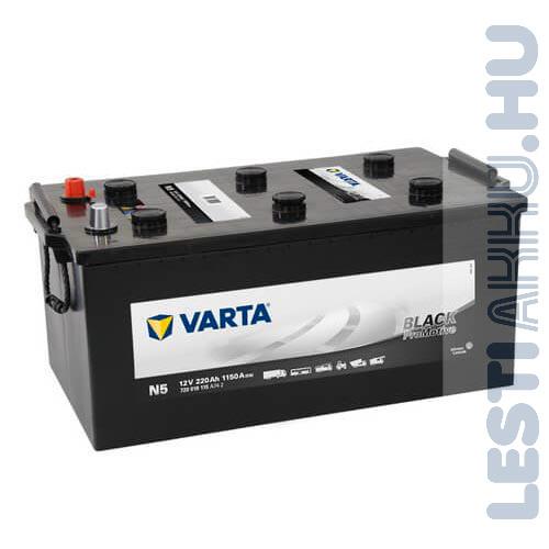 VARTA N5 Promotive Black Teherautó Akkumulátor 12V 220Ah 1150A Bal+ (720018115)