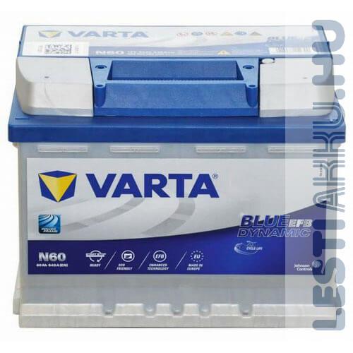 VARTA N60 Blue Dynamic EFB Autó Akkumulátor 12V 60Ah 640A Jobb+ (560500064)