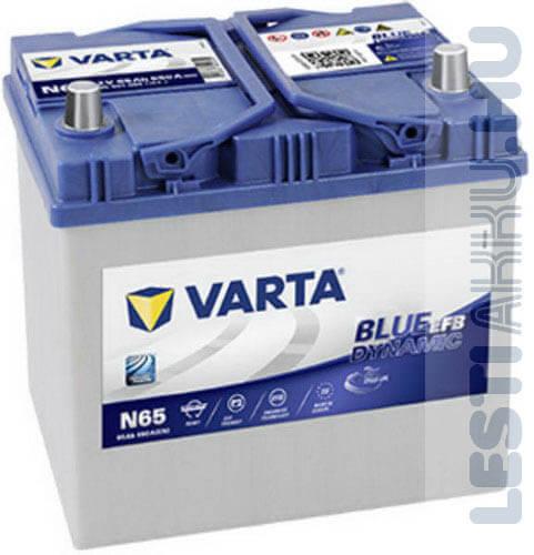 VARTA N65 Blue Dynamic EFB Autó Akkumulátor 12V 65Ah 650A Japán Jobb+ (565501065)