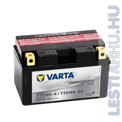 VARTA Powersports AGM Motor Akkumulátor TTZ10S-4 (YTZ10S-BS) 12V 8Ah 150A Bal+ (508901015A514)