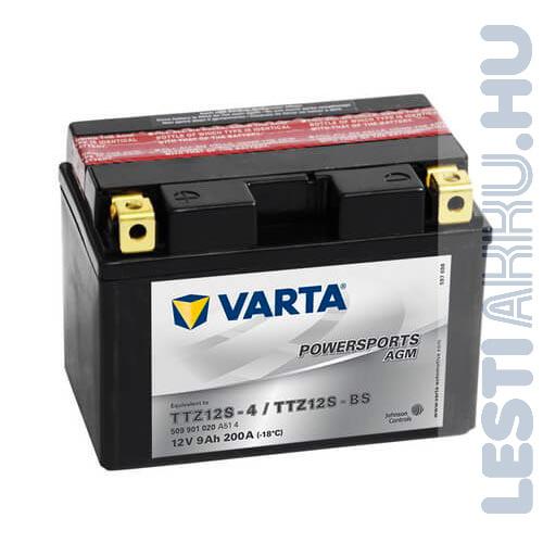 VARTA Powersports AGM Motor Akkumulátor TTZ12S-4 (YTZ12S-BS) 12V 9Ah 200A Bal+ (509901020A514)