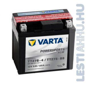 VARTA Powersports AGM Motor Akkumulátor TTZ7S-4 (YTZ7S-BS) 12V 5Ah 120A Jobb+ (507902011A514)