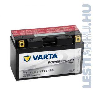 VARTA Powersports AGM Motor Akkumulátor YT7B-4 (YT7B-BS) 12V 7Ah 120A Bal+ (507901012A514)