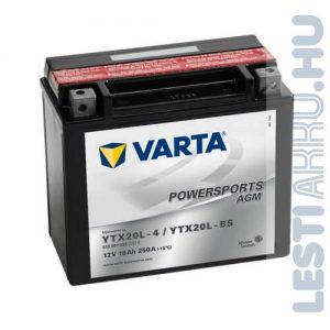 VARTA Powersports AGM Motor Akkumulátor YTX20L-BS 12V 18Ah 250A Jobb+ (518901026A514)