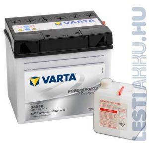 VARTA Powersports Freshpack Fűnyíró Traktor Akkumulátor 53030 (Y60-N30L-A) 12V 30Ah 300A Jobb+ (530030030A514)