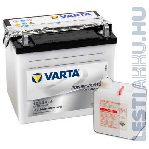 VARTA Powersports Freshpack Motor Akkumulátor 12N24-4 12V 24Ah 200A Bal+ (524101020A514)