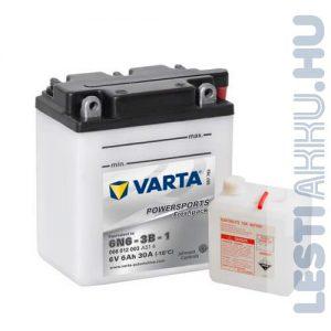 VARTA Powersports Freshpack Motor Akkumulátor 6N6-3B-1 6V 6Ah 30A Jobb+ (006012003A514)