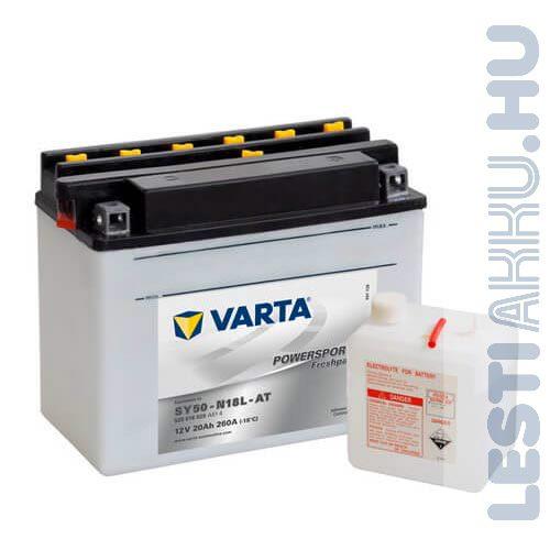 VARTA Powersports Freshpack Motor Akkumulátor SY50-N18L-AT 20Ah 200A Jobb+ (520016020A514)