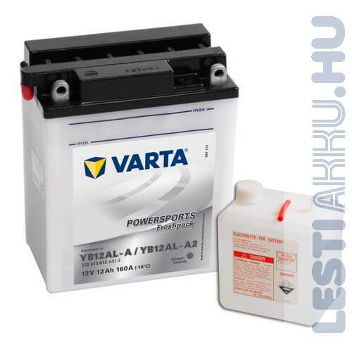 VARTA Powersports Freshpack Motor Akkumulátor YB12AL-A 12V 12Ah 160A Jobb+ (512013012A514)