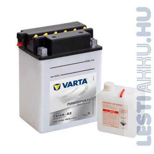 VARTA Powersports Freshpack Motor Akkumulátor YB14A-A2 12V 14Ah 190A Bal+ (514401019A514)