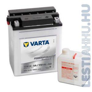 VARTA Powersports Freshpack Motor Akkumulátor YB14L-A2 (12N14-3A) 12V 14Ah 190A Jobb+ (514011014A514)
