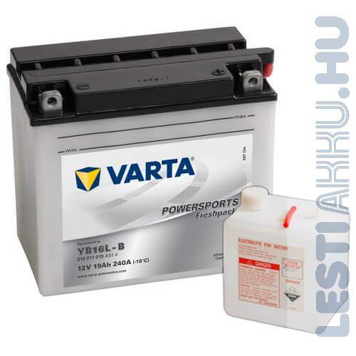 VARTA Powersports Freshpack Motor Akkumulátor YB16L-B 12V 19Ah 240A Jobb+ (519011019A514)