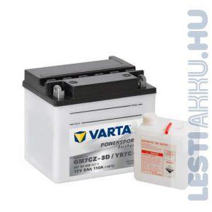 VARTA Powersports Freshpack Motor Akkumulátor YB7C-4 (GM7CZ-3D) 12V 7Ah 110A Jobb+ (507101008A514)