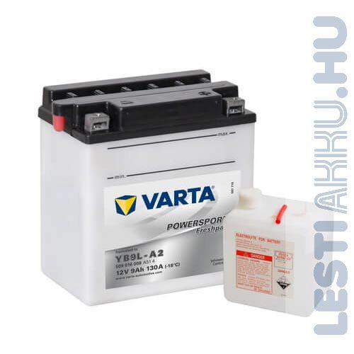 VARTA Powersports Freshpack Motor Akkumulátor YB9L-A2 12V 9Ah 130A Jobb+ (509016008A514)