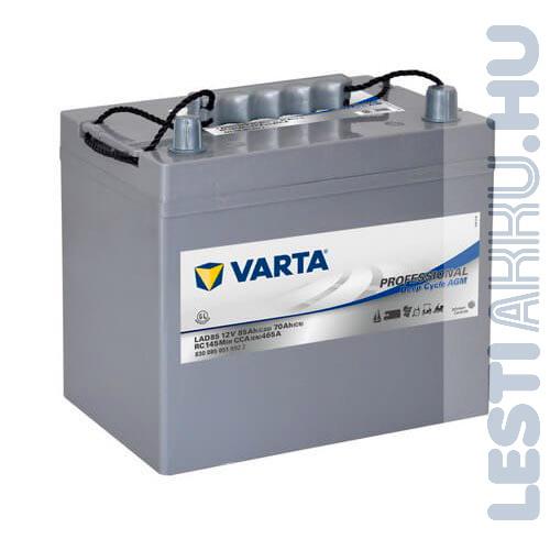 Varta Professional Deep Cycle AGM meghajtó akkumulátor 12V 85Ah jobb+ (830085051D952)