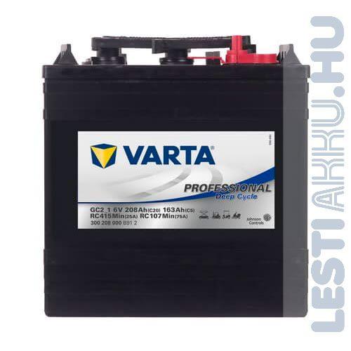 Varta Professional Deep Cycle Golf Cart DS meghajtó akkumulátor GC2_1 6V 208Ah jobb+ (300208000B912)