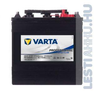 Varta Professional Deep Cycle Golf Cart DS meghajtó akkumulátor GC2_2 6V 216Ah jobb+ (300216000B912)
