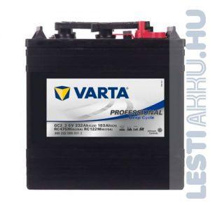 Varta Professional Deep Cycle Golf Cart DS meghajtó akkumulátor GC2_3 6V 232Ah jobb+ (300232000B912)