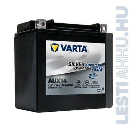 Varta Silver Dynamic Auxiliary AGM Kiegészítő Akkumulátor AUX14 12V 13Ah Bal+