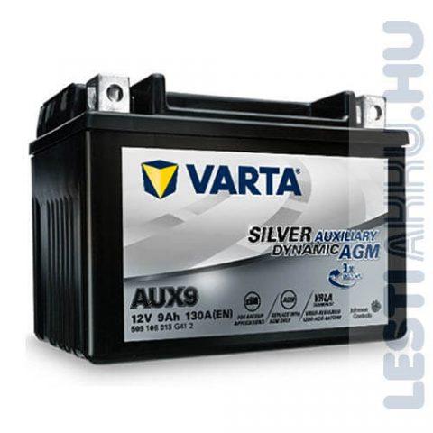Varta Silver Dynamic Auxiliary AGM Kiegészítő Akkumulátor AUX9 12V 9Ah Bal+