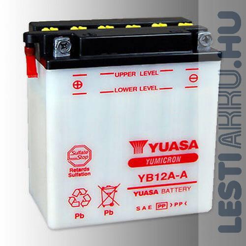 YUASA Motor Akkumulátor YB12A-A 12V 12