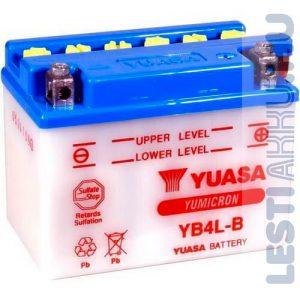 YUASA Motor Akkumulátor YB4L-B 12V 4Ah 45A Jobb+