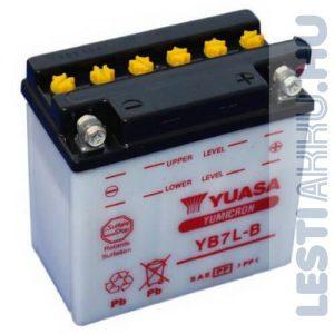 YUASA Motor Akkumulátor YB7L-B 12V 8Ah 75A Jobb+