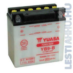 YUASA Motor Akkumulátor YB9-B 12V 9