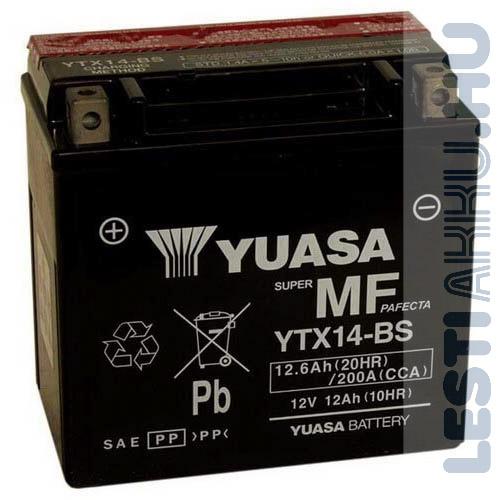 YUASA Motor Akkumulátor YTX14-BS 12V 12