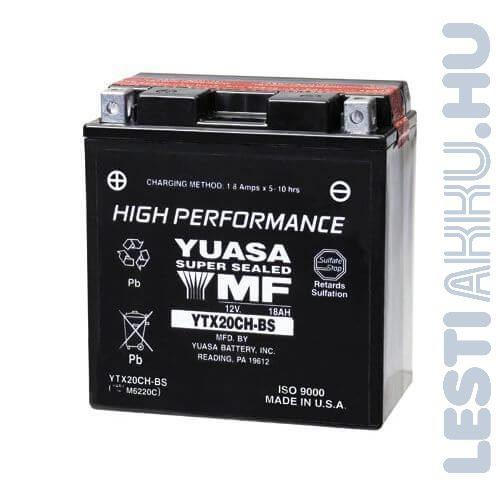 YUASA Motor Akkumulátor YTX20CH-BS 12V 18